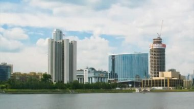 Government and hotel Hyatt Regency of Ekaterinburg — Stock Video