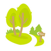 Forest path — Stock Vector