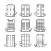 Apartment building icons — Stock Vector