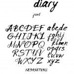 Vintage inky handwritten font — Stock Vector #68263089