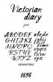 Vintage inky handwritten font — Stock Vector