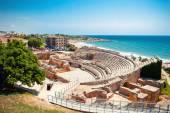 Roman amphitheater in Tarragona — Stock Photo