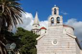 The Church in the Old Town of Budva, Montenegro — Stock Photo