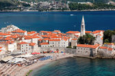 View of the old town of Budva, Montenegro — Stock Photo