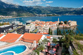 Top view of the old town in Budva, Montenegro — Stock Photo