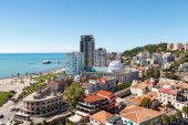 Top view of the city Durres, Albania — Stock Photo