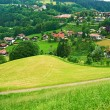 Bavarian landscape at Alps with village — Stock Photo #53519551