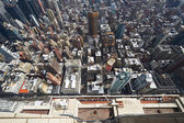 Pohled na panorama manhattanu od empire state building — Stock fotografie