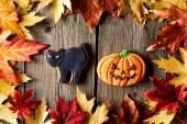 Halloween hembakade pepparkakor — Stockfoto