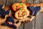 Biscoitos de gengibre caseiro de Halloween — Fotografia Stock