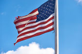 US American flag waving in the wind — Stock Photo