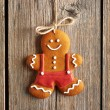 Christmas homemade gingerbread man cookie — Stock Photo #55042427