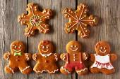 Christmas gingerbread couples cookies — Stock Photo