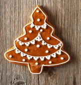 Christmas homemade gingerbread cookie — Stock Photo