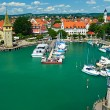 Boats at port of Lindau harbour — Stock Photo #67576969