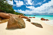 Piękna plaża w Seszele — Zdjęcie stockowe