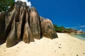 Belle plage à seychelles — Photo