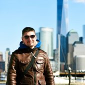 Man in New York City — Stock Photo