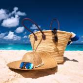 Beautiful beach with bag — Stock Photo