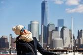 Женщина в Нью-Йорке — Стоковое фото