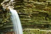 Cave waterfall at Watkins Glen park — Stock Photo