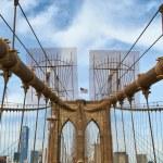 Brooklyn bridge pillar — Stock Photo #71405923