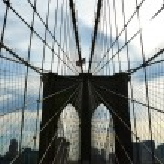 Brooklyn bridge pillar — Stock Photo #71406097