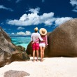 Couple relaxing on tropical beach — Stock Photo #71406261