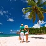 Couple on a beach at Seychelles — Stock Photo #72574693