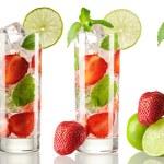 Strawberry mojito cocktails collection — Stock Photo #84608220