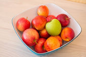 Fruits in the bown on table — Foto Stock