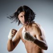 Ripped martial arts expert at training — Stock Photo #52544177
