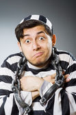 Funny prison inmate in concept — Stock Photo