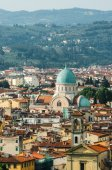 Jewish Synagogue of Florence from top — Stock Photo