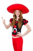 Funny mexican with sombrero in concept — Stock Photo