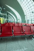 Chairs in the airport lounge area — Stock Photo