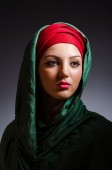 Portrait of the young woman with headscarf — Foto de Stock