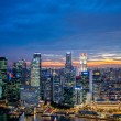 Panorama of Singapore skyline downtown — Stock Photo #53007003