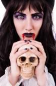Satan halloween concept isolated on white — Stock Photo