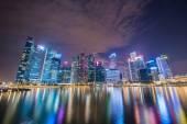Panorama del centro de la ciudad de singapur — Foto de Stock