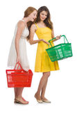 Two female friends during shopping — Stock Photo