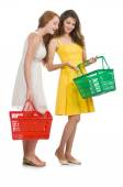 Two female friends during shopping  — Stockfoto