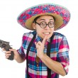 Funny mexican with sombrero in concept — Stock Photo #53423499
