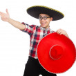 Funny mexican with sombrero in concept — Stock Photo #53424025