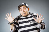Funny prison inmate in concept — Stok fotoğraf