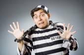 Funny prison inmate in concept — ストック写真
