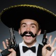 Funny mexican with sombrero in concept — Stock Photo #53430467