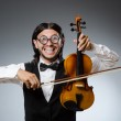 Funny fiddle violin player in musical concept — Stock Photo #53438793