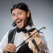 Funny fiddle violin player in musical concept — Stock Photo #53438989