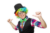 Clown isolated on the white background — Stock Photo